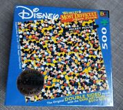 New Disney Mickey Mouse World's Most Difficult Jigsaw Puzzle 500 Pc Double Sided