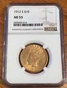 1912-s 10 Gold Indian - Ngc Au 53 - High Quality Scans 5014