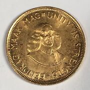 1962 South Africa 2 Rand Gold Coin - Nice Uncirculated -high Quality Scans D030