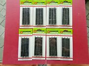 Vintage Bachmann N Scale Straight Track 7612 8 Packs 0f 6 Pc. 4 1/2 In.