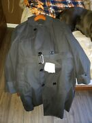 Us Army Standard Issue Black All Weather Trench Coat For Dress Blues- Size=42s