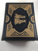 Vtg. Large Leather Hard Back Self Pronouncing Edition Bible A. J. Holman And Co