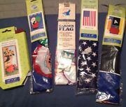 Set Of Five Seasonal Mini Garden Flags Brand New In Packages