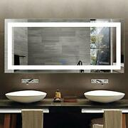 Led Lighted Bathroom Mirror With Touch Screen Extra Large Bathroom 71x32 In