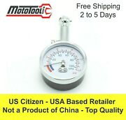 Mototool Pro Low Pressure Dial Tire Gauge 1-15 Psi Ideal For Tubliss Tubeless