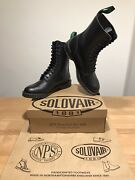Nps Solovair Black 11 Eye Derby Astronaut Boots Sizeuk10 New Only