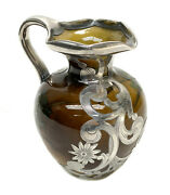 Rookwood Pottery And Gorham Sterling Silver Overlay Ewer By Carl Schmidt 646w