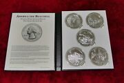 2010 Us Mint Atb Coin Set 5 Oz Complete 5 Parks Album With 25 Total Oz Of Silver