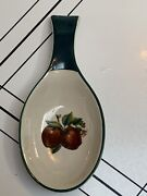 China Pearl Casuals Apples Spoon Rest Retired Pattern Spoon Holder 7 5/8