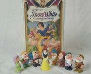Snow White And The Seven Dwarfs Vhs Movie + Walt Disney Collectible Figurines