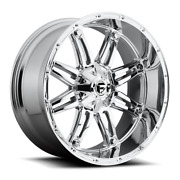 20 Inch Chrome Rims Wheels Fuel Hostage 20x10 D530 Lifted Toyota Tacoma 4runner