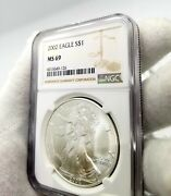 20 - 2002 American Eagle Silver Dollars 1 Ngc Ms69 99.9 Consecutive S/n's