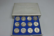 The Magic Of Disney Kirk Sterling Silver Medals Set Of 12