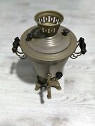Electric Water Kettle 1987 Years Cccp Metal Collectable Without The Cord
