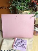 New Louis Vuitton Toiletry 26 Rose Ballerine Pink Epi Cosmetic Pouch Sold Out