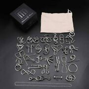 28pcs Metal Wire Puzzle Set Brain Teaser Iq Test Game Unlock Game Toy Kids Adult