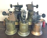 Vtg Wood Handle Blow Torch Turner Brass Works Clayton And Lambert Tool Lot Of 5