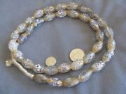 31 Str Antique Venetian Glass Clear French Ambassador African Trade Beads