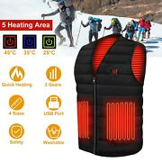Electric Usb Heated Jacket Vest Warm Up Heating Pad For Winter Outdoor Activity