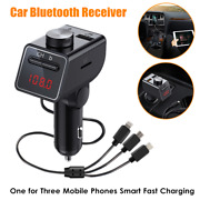 One For Three Cell Phone Smart Fast Charging Car Bluetooth Receiver Transmitter