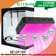 4and039x2and039 Grow Tent Indoor Plant Box + Full Spectrum Led Grow Light Hydroponic 1500w