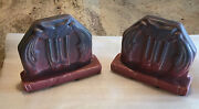 Ultra Rare Muncie Owl Bookends In Pink And Blue Excellent Condition