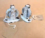 450 A Pair Of Salvaged Iron Window Opening Pulleys Greenhouse Conservatory
