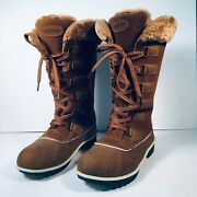 Womenand039s Comfortview Toby Waterproof Boot Brown Leather Upper Plus Size Wide Calf