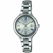 Casio Sheen Titanium Series Shw-7000td-7ajf Solor Womenand039s Watch New In Box