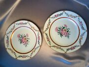 Exquisite Antique Chinese Famille Rose Polychrome 18th Century Qianlong Plates