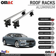 Silver Smooth Top Roof Rack Cross Bar Luggage Carrier For Volvo S90 2017-2021