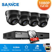 Sannce 4ch Onvif Dvr 1080p Outdoor Cctv Home Security Camera System No/1tb Hdd
