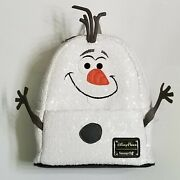 Disney Parks Frozen Olaf Sequined Mini Backpack By Loungefly