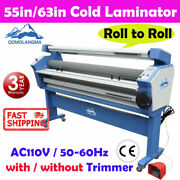 Usa 55in / 63in Large Format Cold Laminator Roll To Roll Laminating Machine