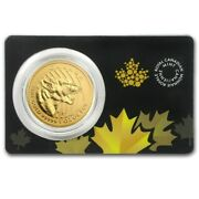 2015 Canada Rcm Call Of The Wild 200 1 Oz. Gold Growling Cougar In Assay Card