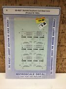 Microscale Decal N Scale 60-4007 Norfolk Southern Coil Steel Cars Protect It