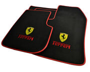 Floor Mats For Ferrari Dino 308 Gt4 Tailored Carpets With Emblem And Red Rounds