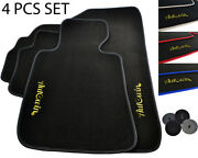 Autowin Black Floor Mats For Bmw Carpets Leather Rounds Lhd Models 1990-2018