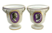 Pair Imperial Royal Vienna Austria Porcelain Wine Coolers Or Planters 1802