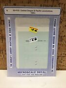 Microscale Decal N Scale 60-4153 Central Oregon And Pacific Locomotives 1995+