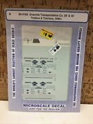 Microscale Decal N Scale 60-4169 Overnite Transportation Co 28' And 45' Trailers