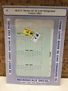 Microscale Decal N Scale 60-4171 Martrac 42',45' And48' Refrigerated Trailers