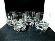 Crown Royal Rocks Shot Double Old Fashion Glass Crown On Pillow Set Of 4 Italy