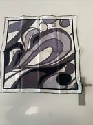 New. Tom Ford Pocket Square. Silk.black And Gray