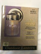 Outdoor Lantern Light Antique Brass Finish Easy Install Ul Listed-w/ Hardware