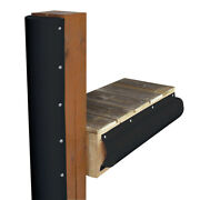 1020-b-f Dock Edge Piling Bumper One End Capped 6and039 Black