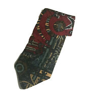 Tango By Max Raab Men's Tie Primal Instincts Sun Dials Tribal Silk Made In Usa