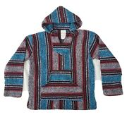 Vintage Franks Textiles Mexican Hooded Baja Sweater Made Mexico Jacket Child M