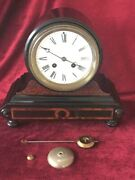 Quality French Drum Head 8 Day Mantle Clock