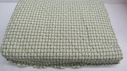 1875 Dea Italy Gorgeous King Bedspread Andndash Green And White 100 Cotton/ Le Isole